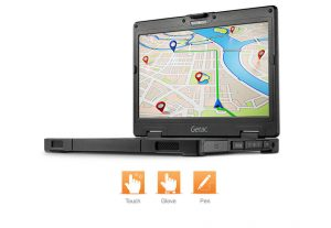Vibrant Display GPS Getac s410 Laptop